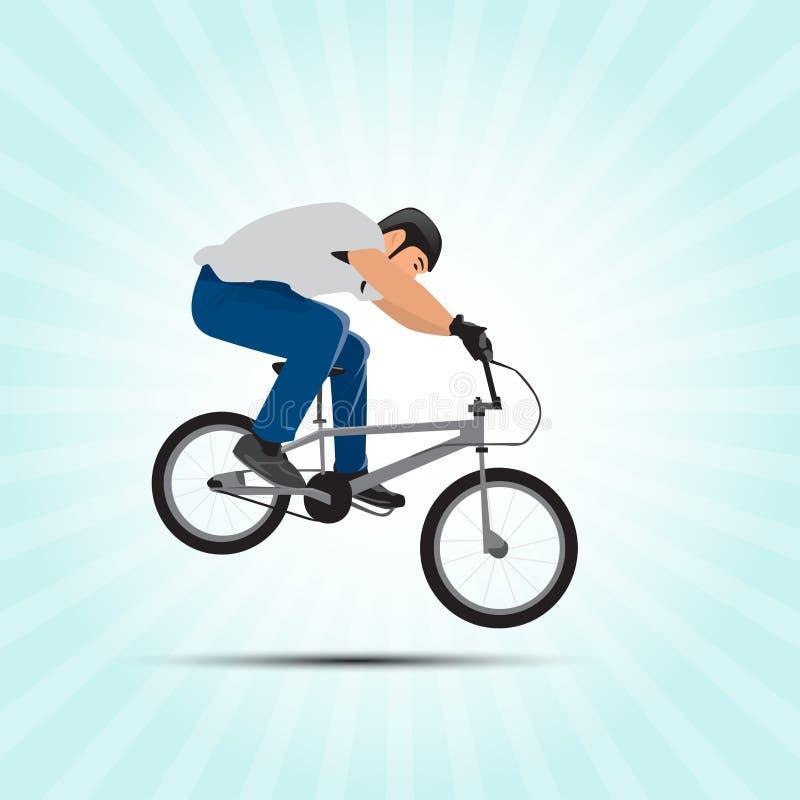 Illustrazione di vettore del ciclista di Bmx Arte di sport di Bmx Salto di BMX Formato di vettore illustrazione vettoriale