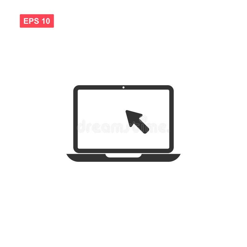 Illustrazione di vettore del computer portatile con i cursos isolata illustrazione di stock
