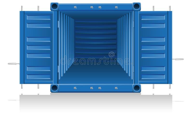 Illustrazione di vettore del contenitore di carico illustrazione vettoriale