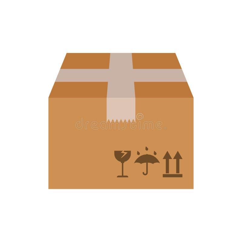 Illustrazione di vettore del contenitore di cartone royalty illustrazione gratis