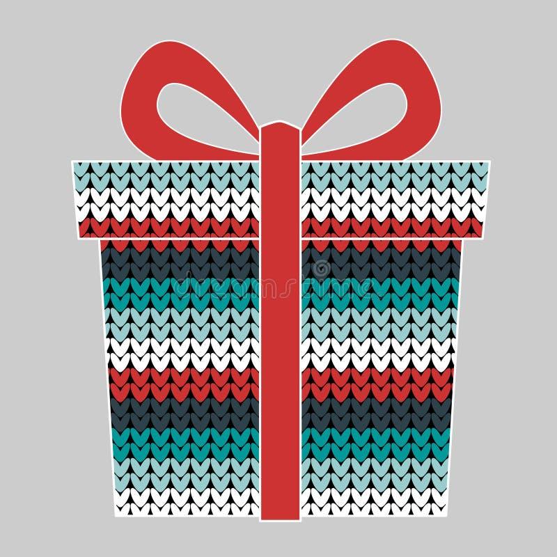 Illustrazione di vettore del contenitore di regalo illustrazione di stock