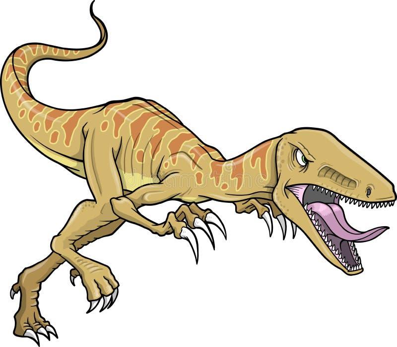 Illustrazione di vettore del dinosauro del rapace illustrazione di stock