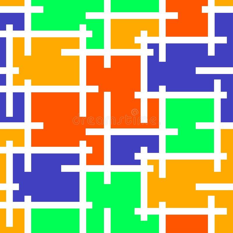 Illustrazione di vettore del fondo del mosaico del vetro macchiato illustrazione vettoriale