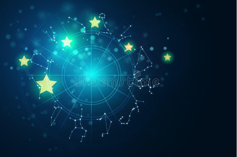 Illustrazione di vettore del fondo del segno di alchemia e di astrologia illustrazione vettoriale