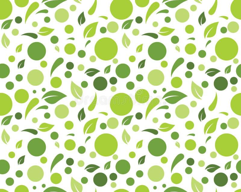 Illustrazione di vettore del fondo della foglia della natura di Eco illustrazione di stock