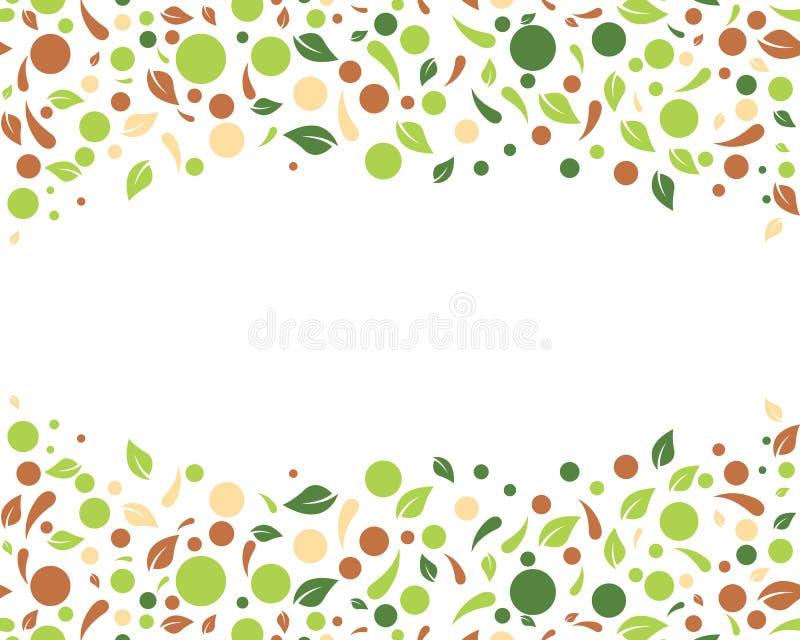 Illustrazione di vettore del fondo della foglia della natura di Eco royalty illustrazione gratis