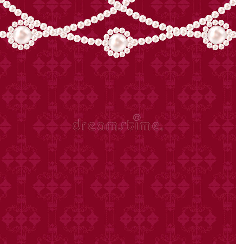 Illustrazione di vettore del fondo della perla di bellezza royalty illustrazione gratis