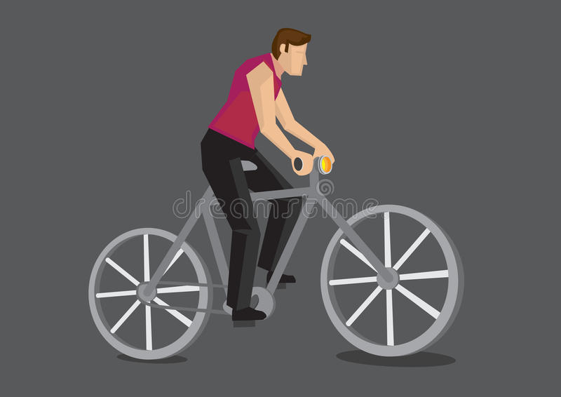 Download Illustrazione Di Vettore Del Fumetto Del Pendolare Della Bicicletta Illustrazione Vettoriale - Illustrazione di bicyclist, biking: 56878813