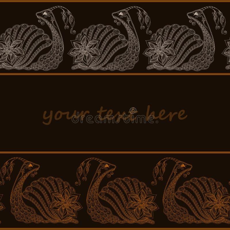 Illustrazione di vettore del fumetto della lumaca Stile di Henna Mehendi royalty illustrazione gratis