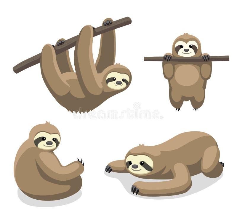 Illustrazione 1 di vettore del fumetto di bradipo immagine stock