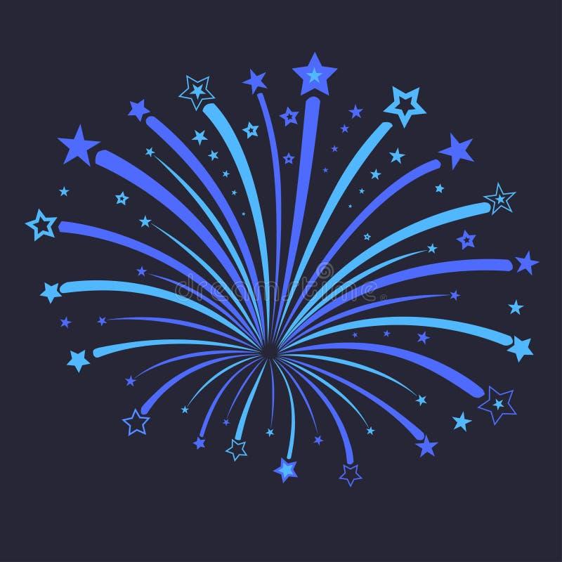 Illustrazione di vettore del fuoco d'artificio royalty illustrazione gratis
