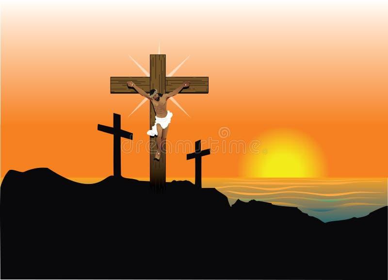 Risurrezione di Gesù Pasqua illustrazione di stock