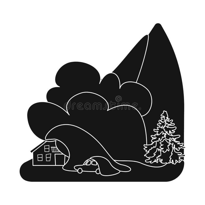 Illustrazione di vettore del logo di arresto e di calamità Metta dell'illustrazione di vettore delle azione di disastro e di cala illustrazione di stock