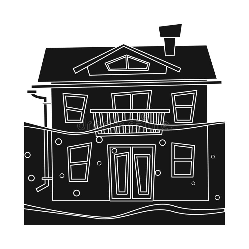 Illustrazione di vettore del logo di arresto e di calamità Metta dell'icona di vettore di disastro e di calamità per le azione illustrazione di stock