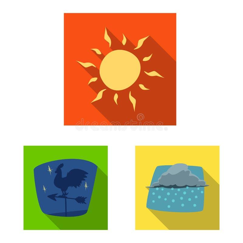 Illustrazione di vettore del logo di clima e del tempo Insieme dell'icona di vettore della nuvola e del tempo per le azione royalty illustrazione gratis