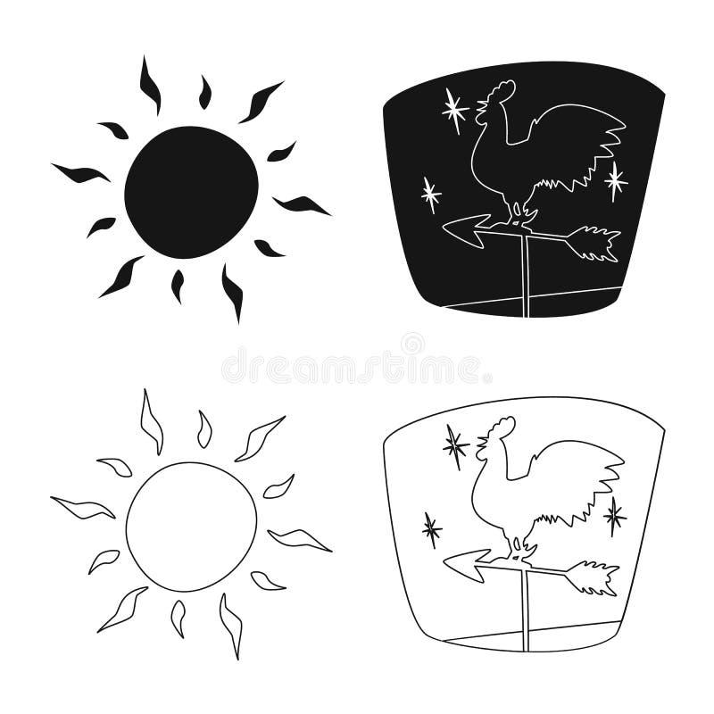 Illustrazione di vettore del logo di clima e del tempo Insieme dell'icona di vettore della nuvola e del tempo per le azione illustrazione di stock