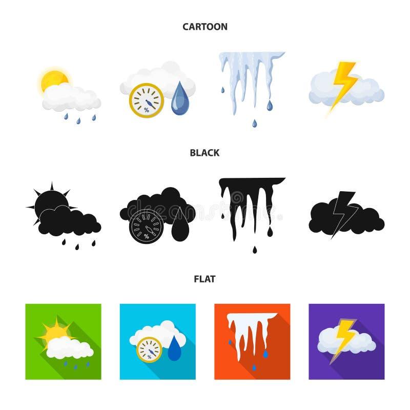 Illustrazione di vettore del logo di clima e del tempo Raccolta dell'illustrazione di riserva di vettore della nuvola e del tempo illustrazione vettoriale