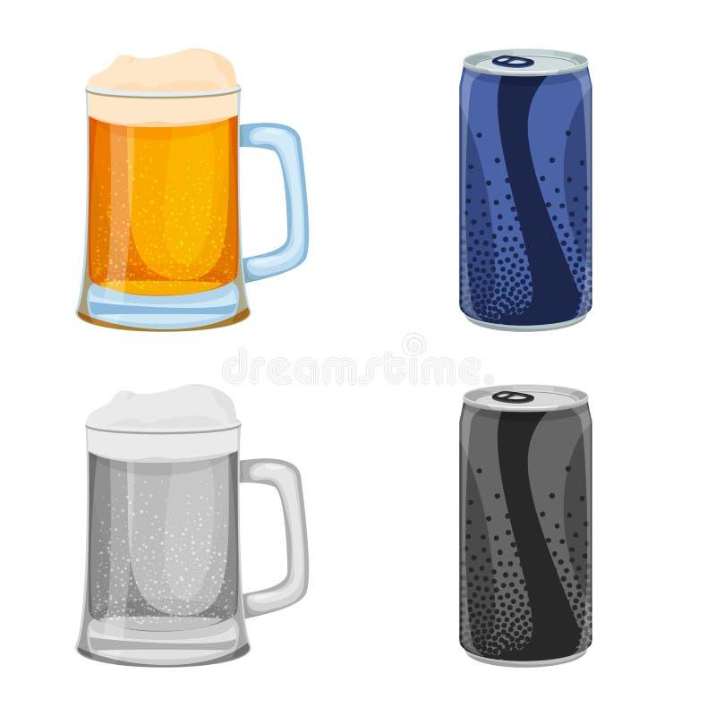 Illustrazione di vettore del logo della barra e della bevanda Insieme dell'icona di vettore del partito e della bevanda per le az illustrazione vettoriale