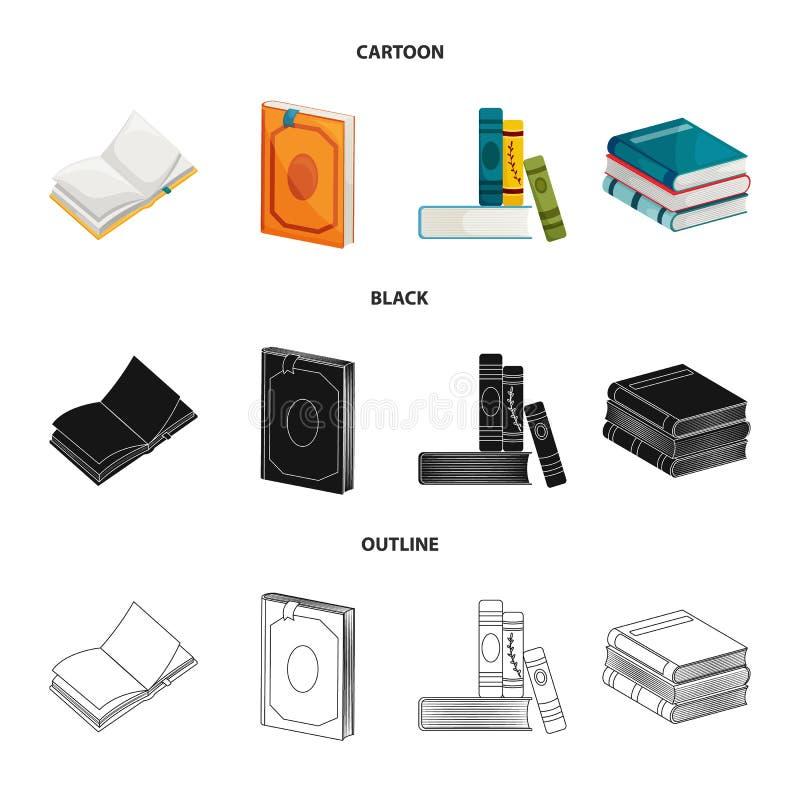 Illustrazione di vettore del logo della copertura e di addestramento Metta di addestramento e dell'icona di vettore della libreri illustrazione vettoriale