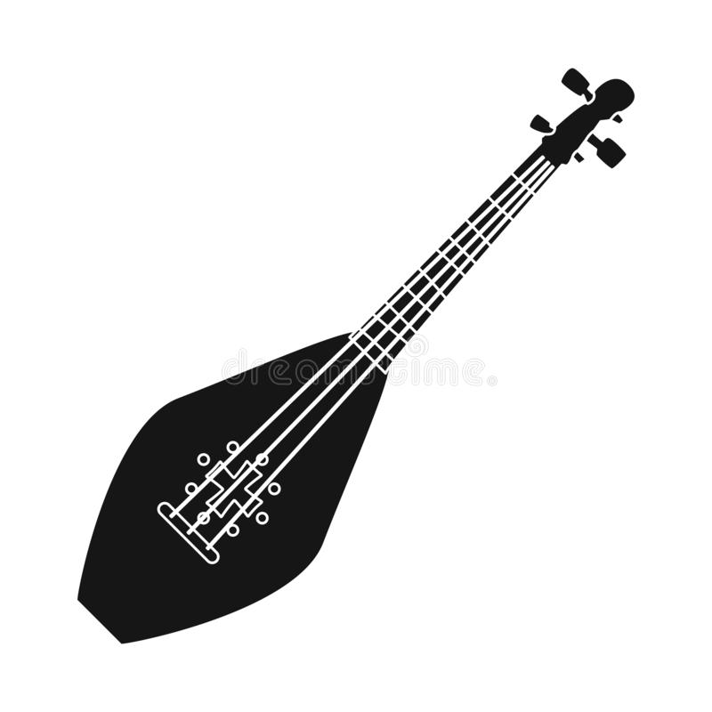 Illustrazione di vettore del logo dello strumento e di musical Metta dell'icona musicale e messa insieme di vettore per le azione illustrazione di stock