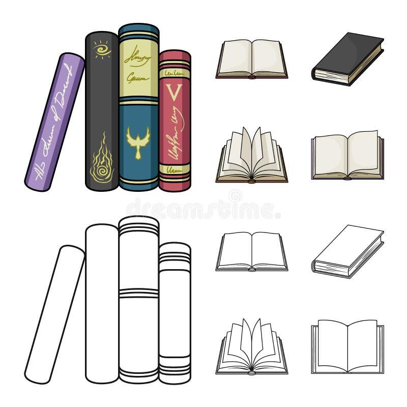 Illustrazione di vettore del logo del manuale e delle biblioteche Metta dell'icona di vettore della scuola e delle biblioteche pe royalty illustrazione gratis