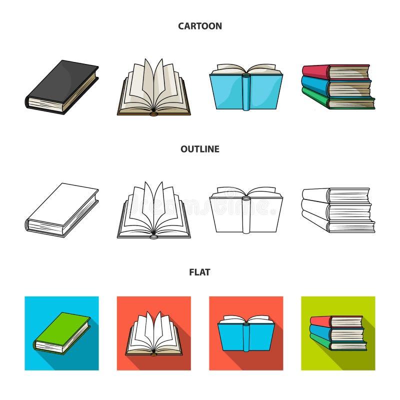 Illustrazione di vettore del logo del manuale e delle biblioteche Metta del simbolo di riserva della scuola e delle biblioteche p illustrazione vettoriale