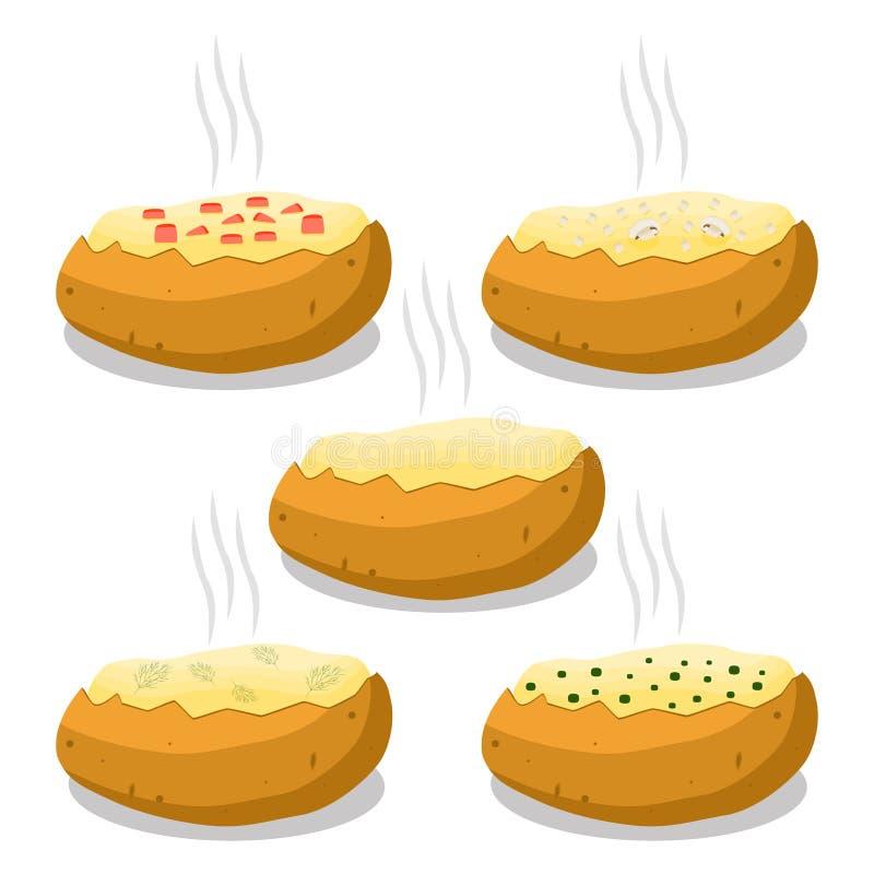 Illustrazione di vettore del logo per la patata marrone illustrazione di stock