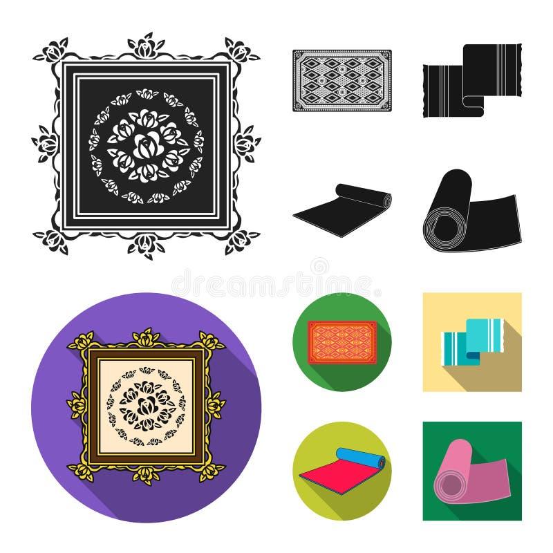 Illustrazione di vettore del logo del persiano e del tappeto Raccolta del simbolo di riserva del confine e del tappeto per il web royalty illustrazione gratis