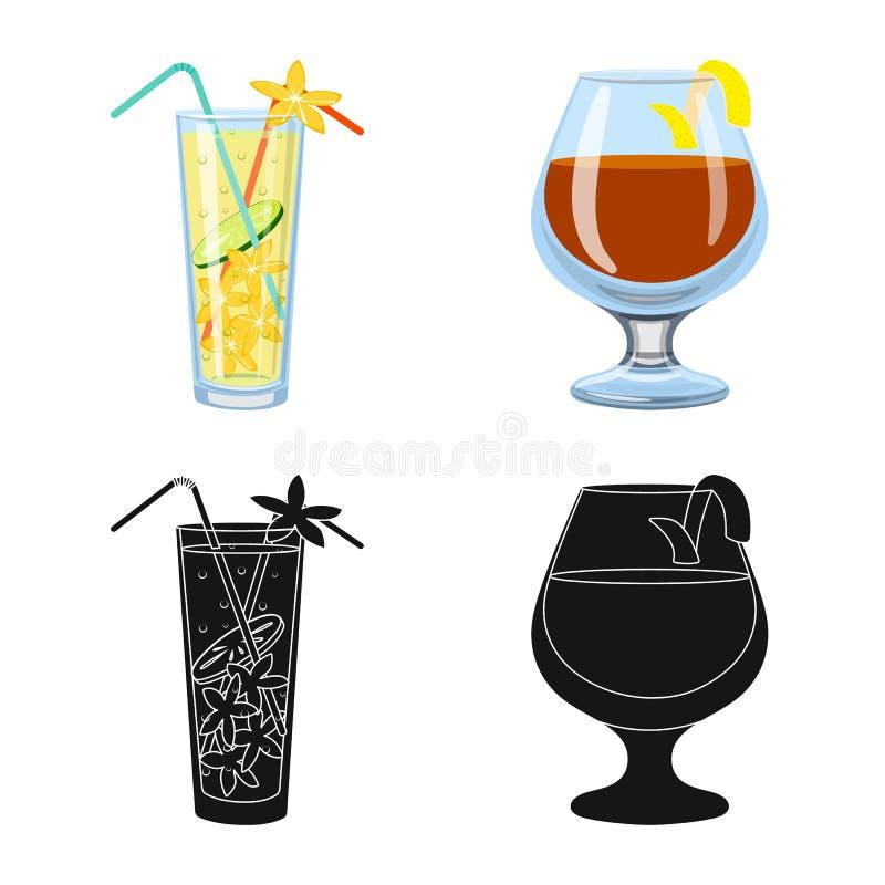 Illustrazione di vettore del logo del ristorante e del liquore Metta del simbolo di riserva dell'ingrediente e del liquore per il illustrazione vettoriale