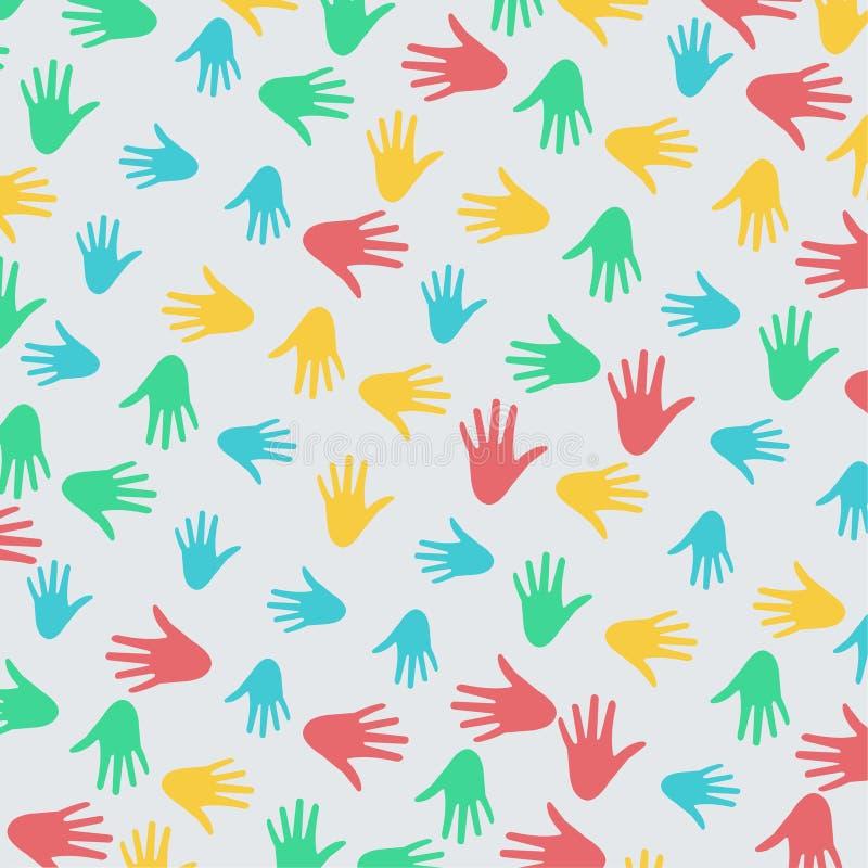 Illustrazione di vettore del modello della mano di diversità illustrazione vettoriale