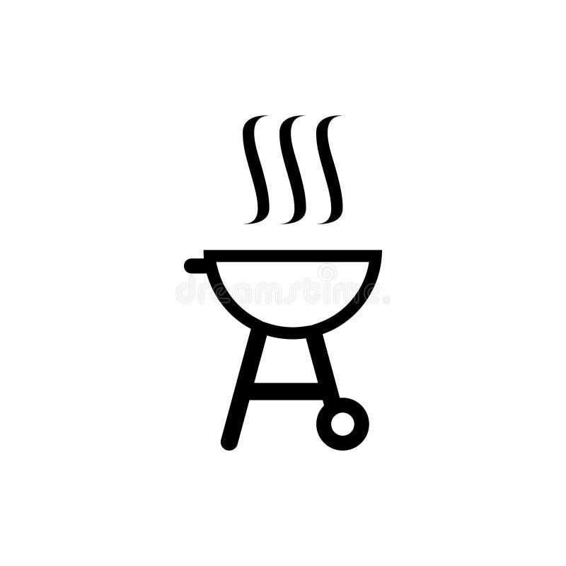 illustrazione di vettore del modello di progettazione dell'icona del barbecue della griglia del carbone illustrazione vettoriale