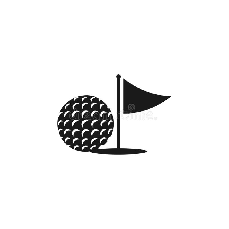 Illustrazione di vettore del modello di progettazione grafica dell'icona di golf illustrazione di stock