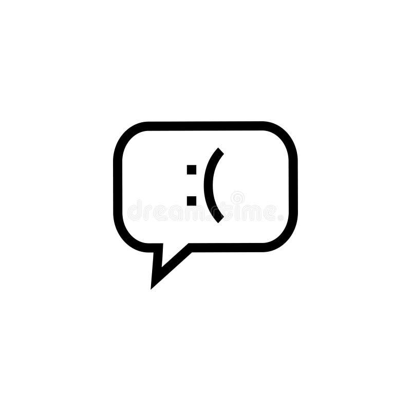 Illustrazione di vettore del modello di progettazione grafica dell'icona di risposte negative royalty illustrazione gratis