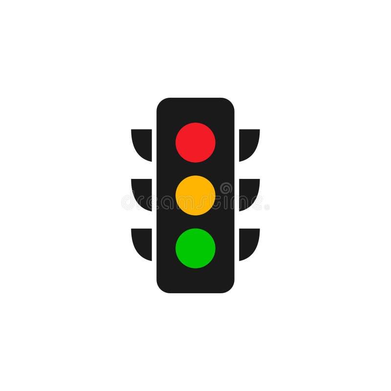 Illustrazione di vettore del modello di progettazione grafica di logo di semaforo royalty illustrazione gratis