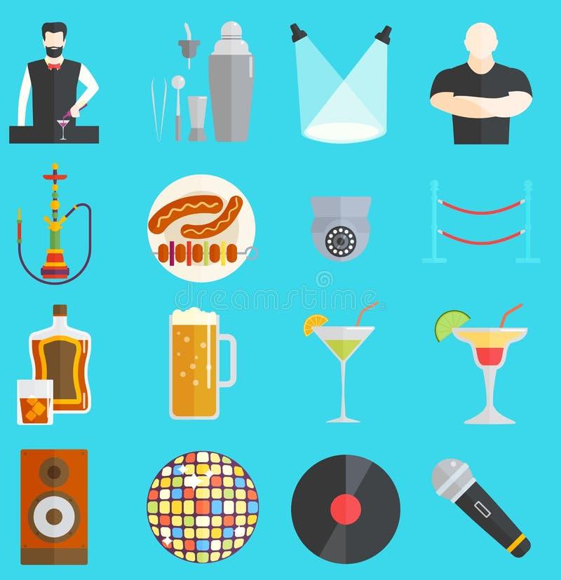 Illustrazione di vettore del night-club royalty illustrazione gratis