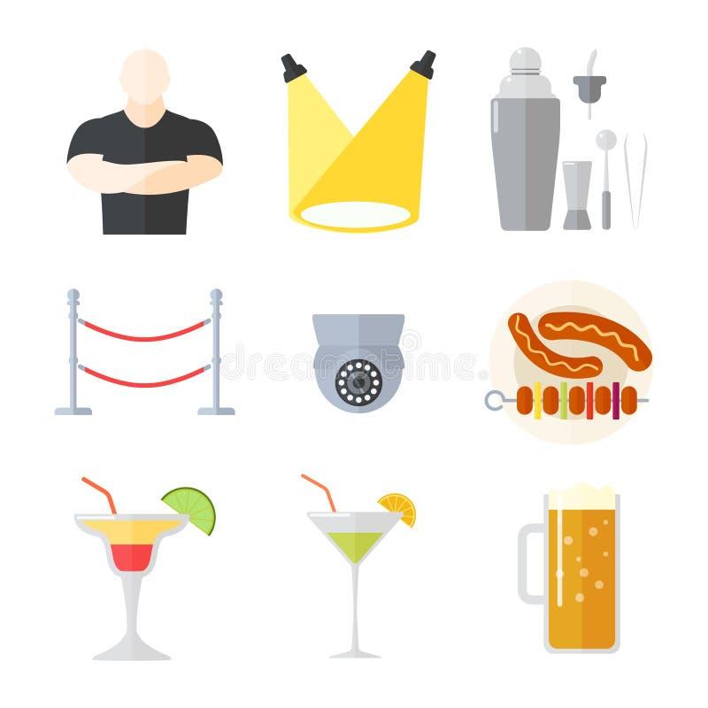 Illustrazione di vettore del night-club illustrazione di stock