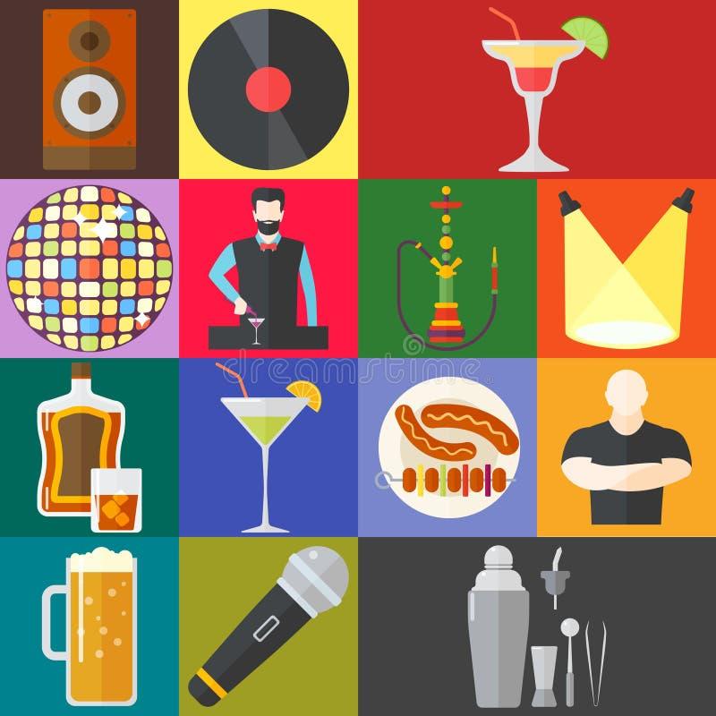Illustrazione di vettore del night-club illustrazione vettoriale