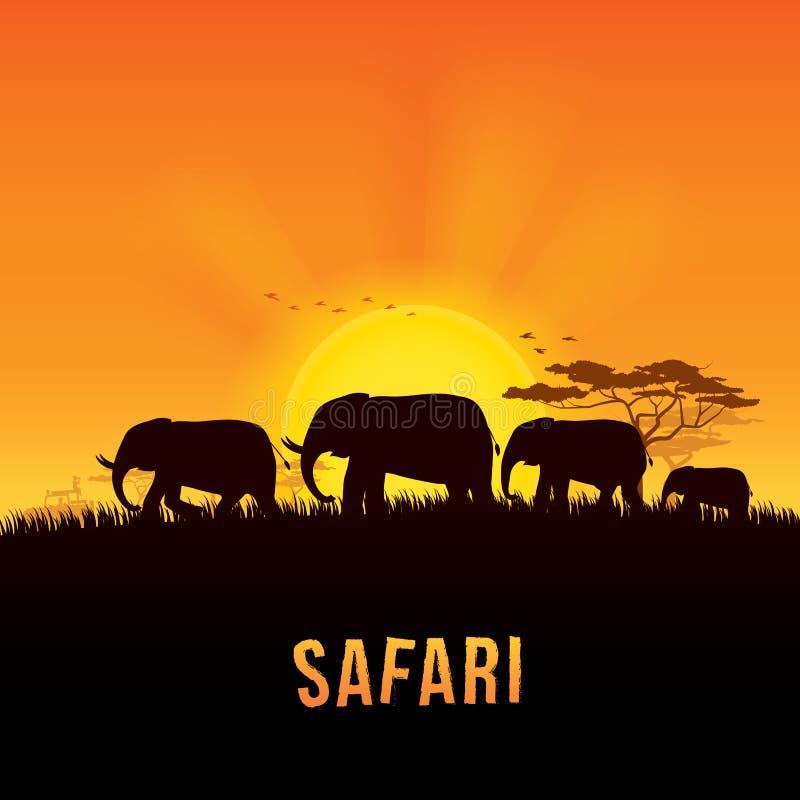 Illustrazione di vettore del paesaggio dell'Africa immagini stock libere da diritti