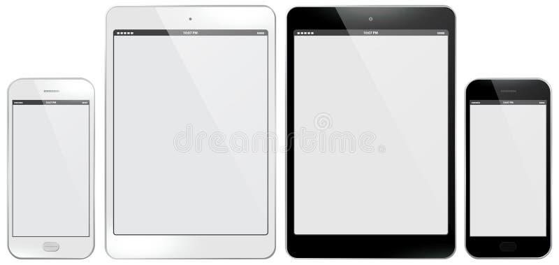 Illustrazione di vettore del PC della compressa e del telefono cellulare illustrazione vettoriale