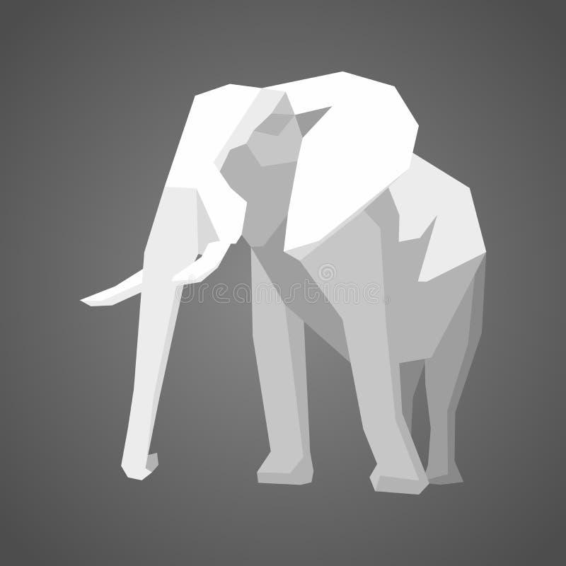 Illustrazione di vettore del poligono dell'elefante royalty illustrazione gratis