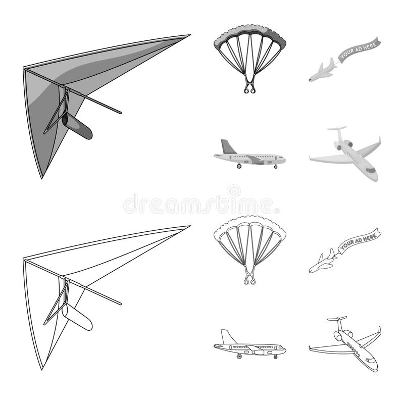 Illustrazione di vettore del segno dell'oggetto e di trasporto Metta del trasporto e dell'icona scivolante di vettore per le azio illustrazione vettoriale