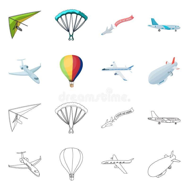 Illustrazione di vettore del segno dell'oggetto e di trasporto Raccolta di trasporto e dell'illustrazione di riserva scivolante d illustrazione vettoriale