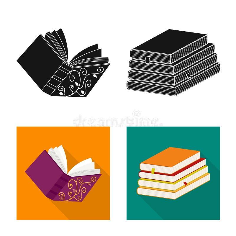 Illustrazione di vettore del segno della copertura e di addestramento Metta di addestramento e dell'icona di vettore della librer illustrazione vettoriale