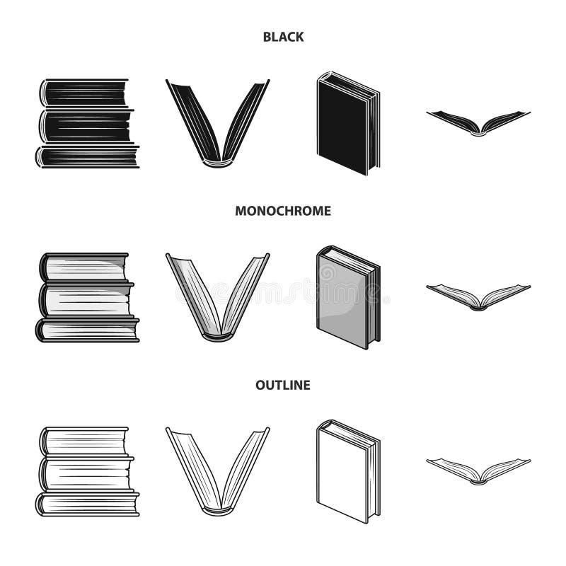 Illustrazione di vettore del segno del manuale e delle biblioteche Metta del simbolo di riserva della scuola e delle biblioteche  illustrazione di stock