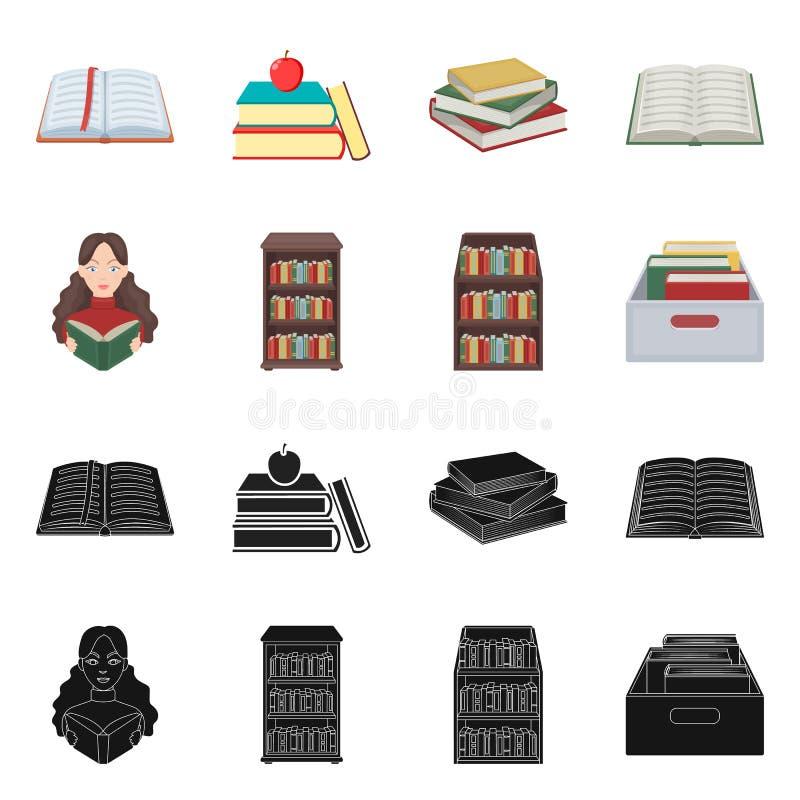 Illustrazione di vettore del segno del manuale e delle biblioteche Raccolta dell'icona di vettore della scuola e delle bibliotech illustrazione vettoriale