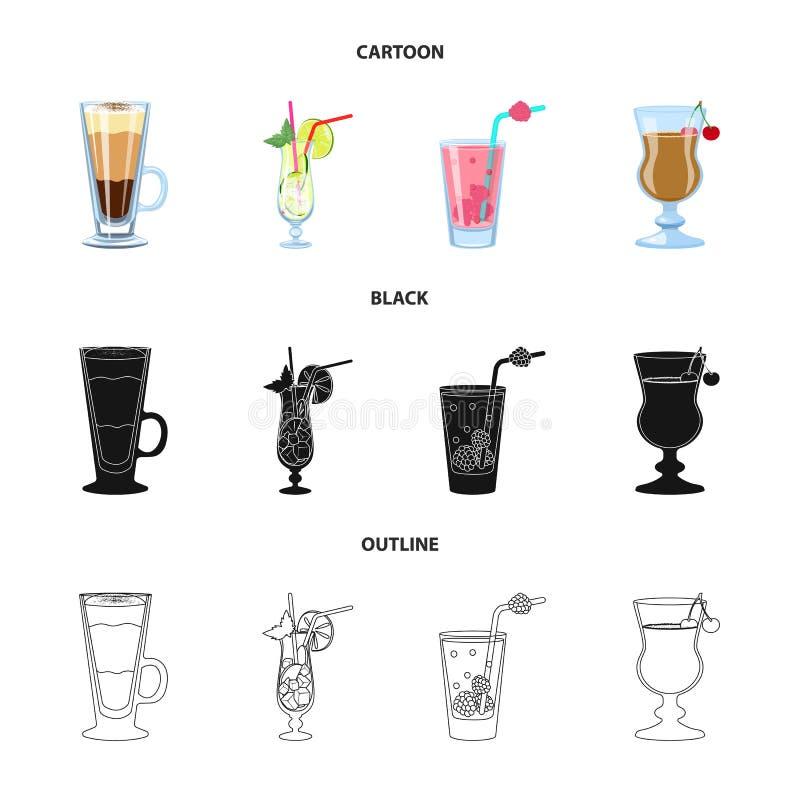 Illustrazione di vettore del segno del ristorante e del liquore Metta dell'illustrazione di vettore delle azione dell'ingrediente royalty illustrazione gratis