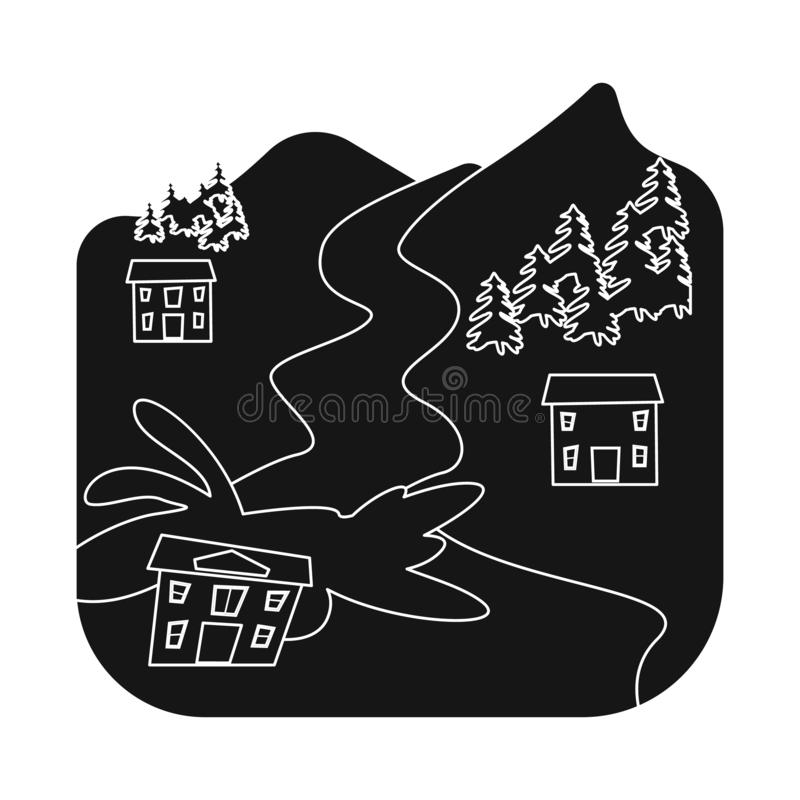 Illustrazione di vettore del simbolo di arresto e di calamità Metta del simbolo di riserva di disastro e di calamità per il web royalty illustrazione gratis