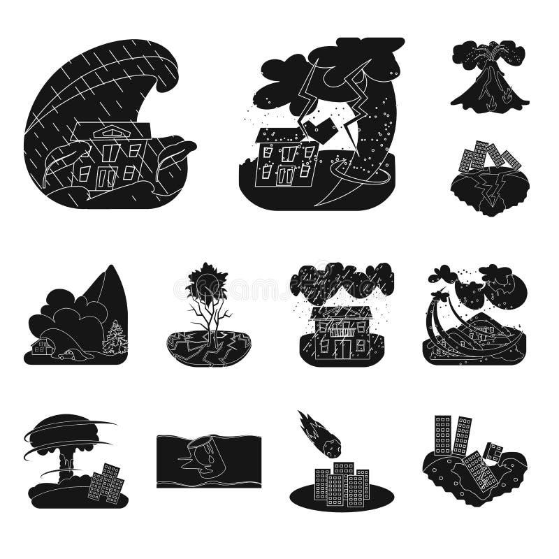 Illustrazione di vettore del simbolo di arresto e di calamità Metta del simbolo di riserva di disastro e di calamità per il web illustrazione vettoriale