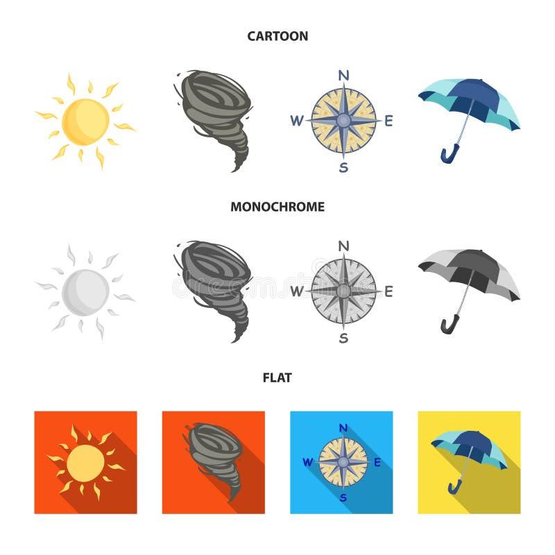 Illustrazione di vettore del simbolo di clima e del tempo Insieme dell'illustrazione di riserva di vettore della nuvola e del tem illustrazione vettoriale