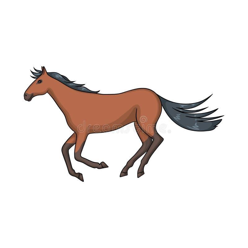 Illustrazione di vettore del simbolo dell'ippodromo e del cavallo Raccolta del cavallo ed icona di salto di vettore per le azione illustrazione di stock